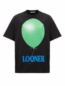 Christopher Kane - Oversized Looner Print Cotton T Shirt - Womens - Black