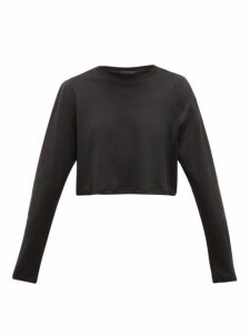 Wardrobe. nyc - Release 03 Cropped Long-sleeved Cotton T-shirt - Womens - Black