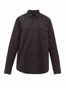 Wardrobe. nyc - Release 03 Patch-pocket Cotton Shirt - Womens - Black