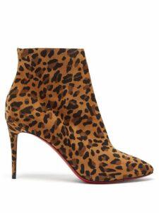 Christian Louboutin - Eloise 85 Leopard-print Suede Boots - Womens - Leopard