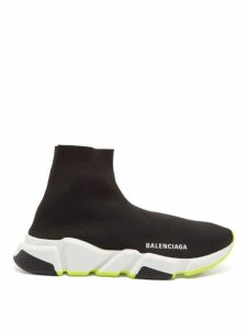 Balenciaga - Speed High Top Sock Trainers - Womens - Black Yellow