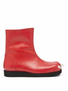 Charles Jeffrey Loverboy - X Roker Lion Claw Leather Boots - Womens - Red