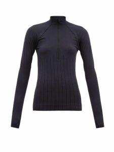Falke - Half Zip High Neck Performance Top - Womens - Black