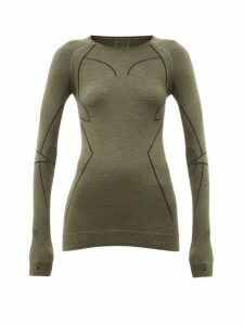 Falke - Thermal Stretch-wool Performance Top - Womens - Green