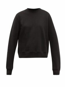 Wardrobe. nyc - Round Neck Cotton Jersey Sweatshirt - Womens - Black