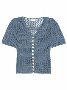 She Made Me Aahana crochet top - Blue