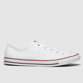 Converse White All Star Dainty Gs Ox Trainers