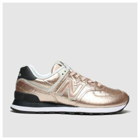 New Balance Gold 574 Metallic Trainers