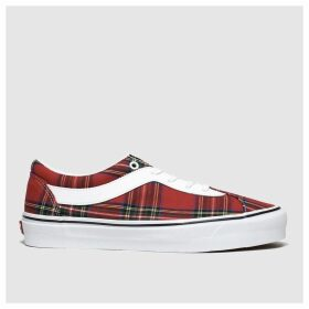Vans White & Red Bold New Issue Plaid Trainers