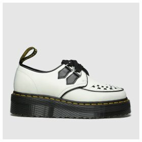 Dr Martens White & Black Sidney Flat Shoes