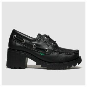 Kickers Black Klio Lace Low Heels