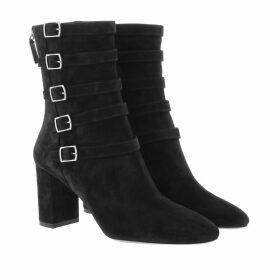 Saint Laurent Boots & Booties - Lou Buckle Ankle Boots Suede Black - black - Boots & Booties for ladies