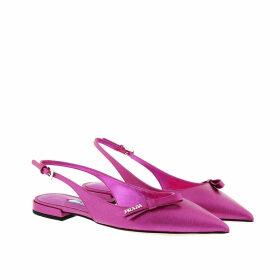 Prada Ballerinas - Slingback Ballerinas Saffiano Leather Fuchsia - magenta - Ballerinas for ladies