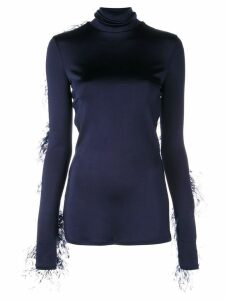 Proenza Schouler Ostrich Feather Top - Blue