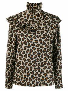 MSGM leopard-print blouse - Neutrals