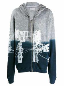 Faith Connexion oversized zip-up hoodie - Grey