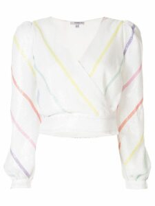 Olivia Rubin striped long-sleeved top - White