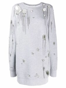 Faith Connexion distressed jumper - Grey