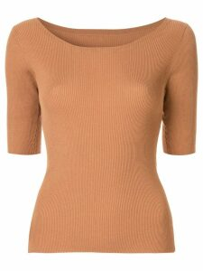 Tomorrowland ribbed knit sweater - Brown