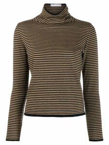Société Anonyme striped turtleneck jumper - NEUTRALS