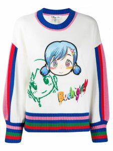 Mira Mikati embroidered character jumper - White