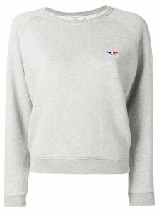 Maison Kitsuné Fox patch sweatshirt - Grey