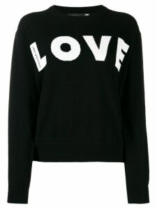 Love Moschino relaxed-fit 'LOVE' jumper - Black