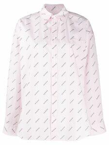 Balenciaga logo-printed masculine shirt - Pink