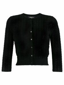 Paule Ka cropped slim-fit cardigan - Black