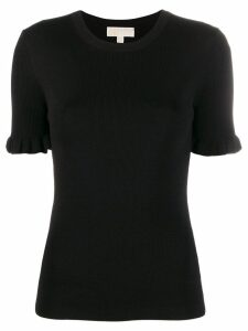 Michael Michael Kors ruffle-sleeve knit top - Black