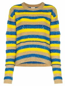 Ashish glitter-effect striped jumper - Multicolour