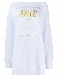 Versace Jeans Couture brushed fleece jumper - Blue