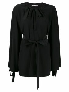 Stella McCartney tie waist loose-fit blouse - Black