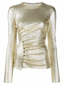 Paco Rabanne metallic ruched top - GOLD
