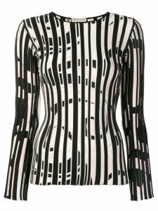 Emilio Pucci Fortuna Intarsia striped jumper - Black