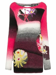 Susan Fang cut-out intarsia knit jumper - Multicolour