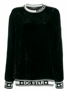 Dolce & Gabbana DG Star trim sweatshirt - Black