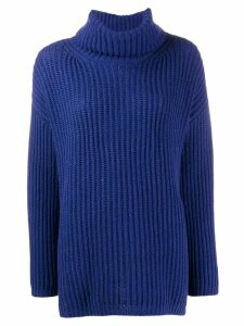 Incentive! Cashmere roll neck jumper - Blue