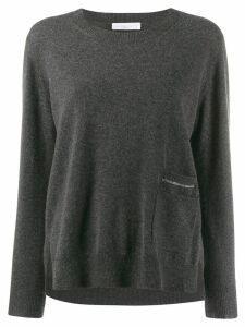 Fabiana Filippi beaded jumper - Grey