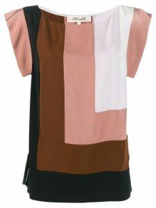 DVF Diane von Furstenberg Burlwood Multi blouse - Brown