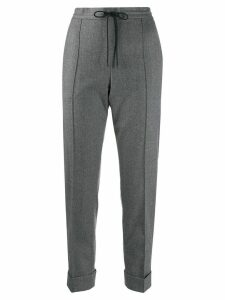 Kenzo turned-up hem tapered trousers - Grey