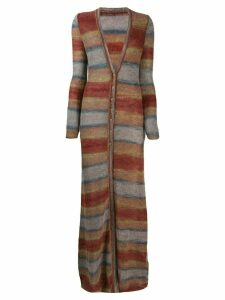 Jacquemus longline striped cardigan - Red