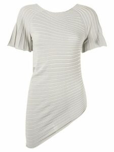 Emporio Armani asymmetric jersey T-shirt - Brown