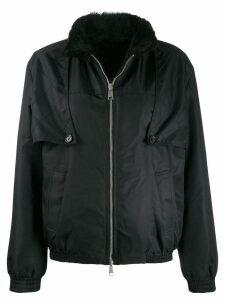 Drome faux fur collar jacket - Black