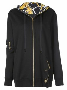 Versace Medusa safety pin hoodie - Black