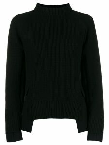 Sacai knitted sweatshirt with jacket panels - Black