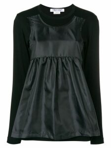 Comme Des Garçons Comme Des Garçons longsleeved hybrid T-shirt - Black
