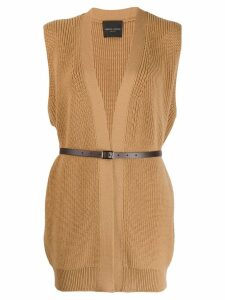 Roberto Collina Nocciola sleeveless jumper - NEUTRALS