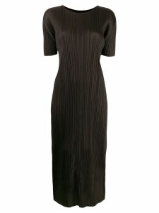 Pleats Please By Issey Miyake pleated midi dress - Black