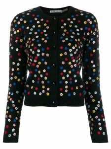Alice+Olivia floral embellished cardigan - Black